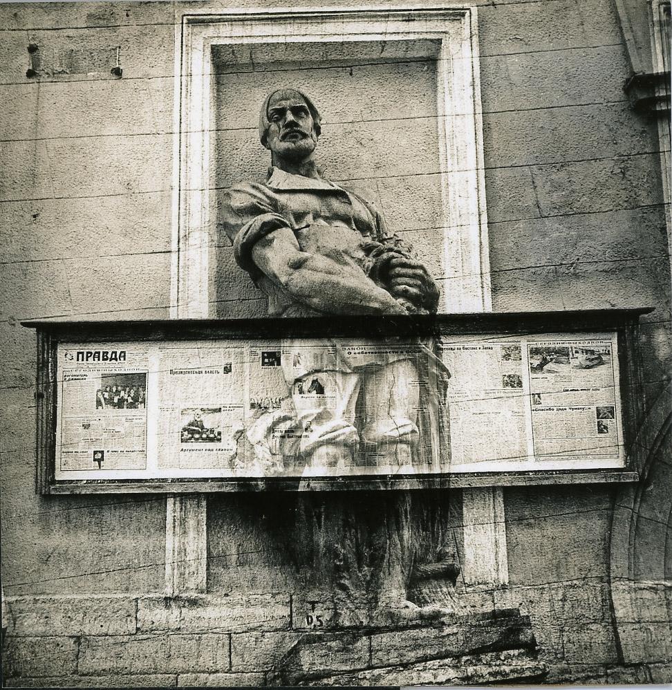 Sepia toned gelatin silver print (photomontage), 1987-88