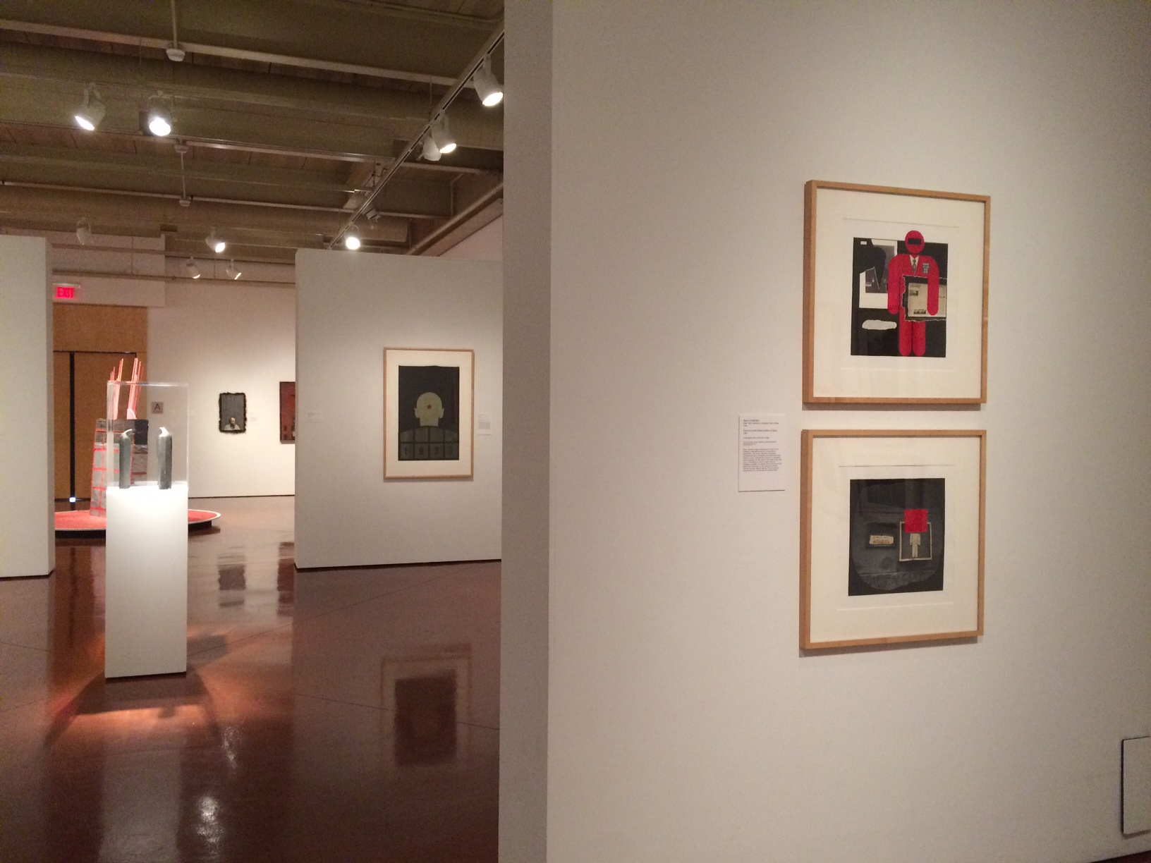"""Nomenklatura of Signs"" collages in Zimmerli Art Museum at Rutgers University, New Brunswick, NJ, USA"