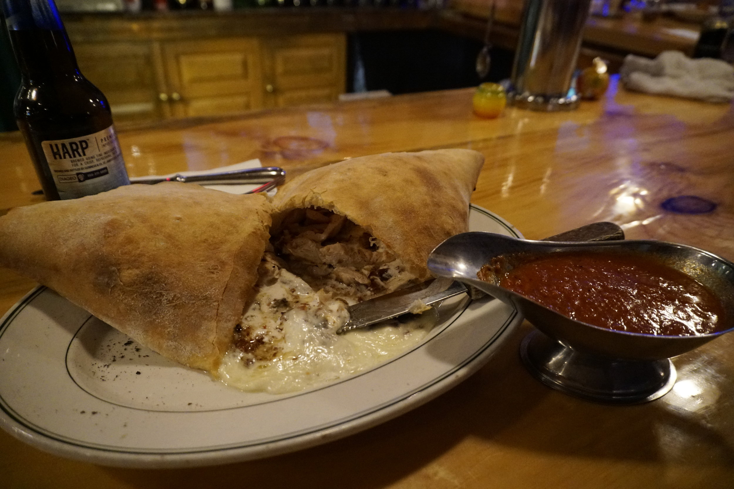Chicken Bacon Calzone
