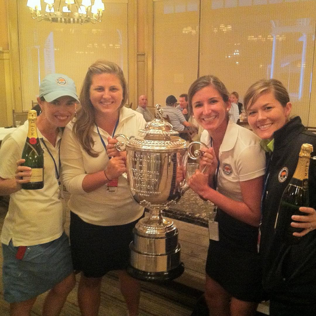 4 years ago today, we crowned the 2012 PGA Champ and I wore a skort. ⛳️🏆#timeflies