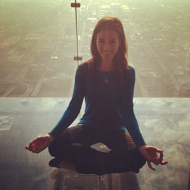 Conquering my fears! With @christie5050 #chicago #zen