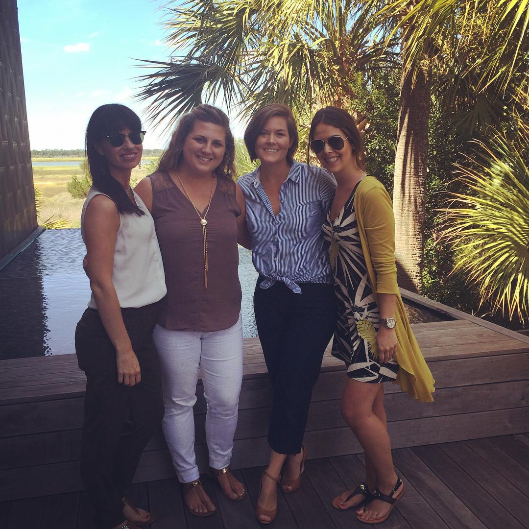 I was lucky enough to spend the last few days in #kiawah with my work family. These amazing women challenge me everyday to learn more, try harder and be the best version of myself. #werkperks @obviouslee @aealpino @lee_deas @madeline_dodd
