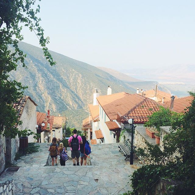 On our walk to class ❤️ // #VSCOcam  #delphi  #greece  #emwenttogreece