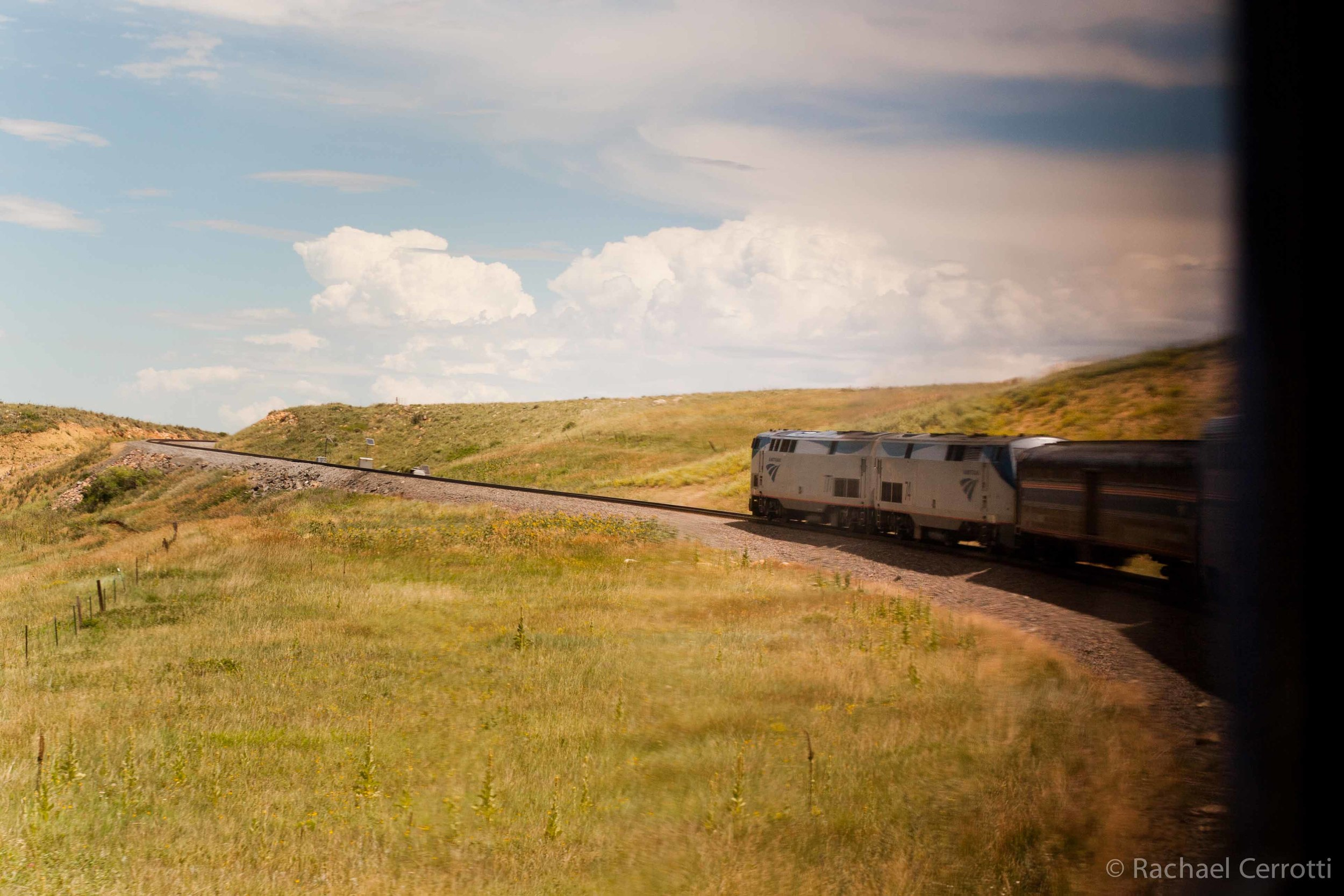 The California Zephyr snakes through the Rockies. I loved being able to see the front of the train winding through the mountains – a sight you would never see in the flat lands of America.