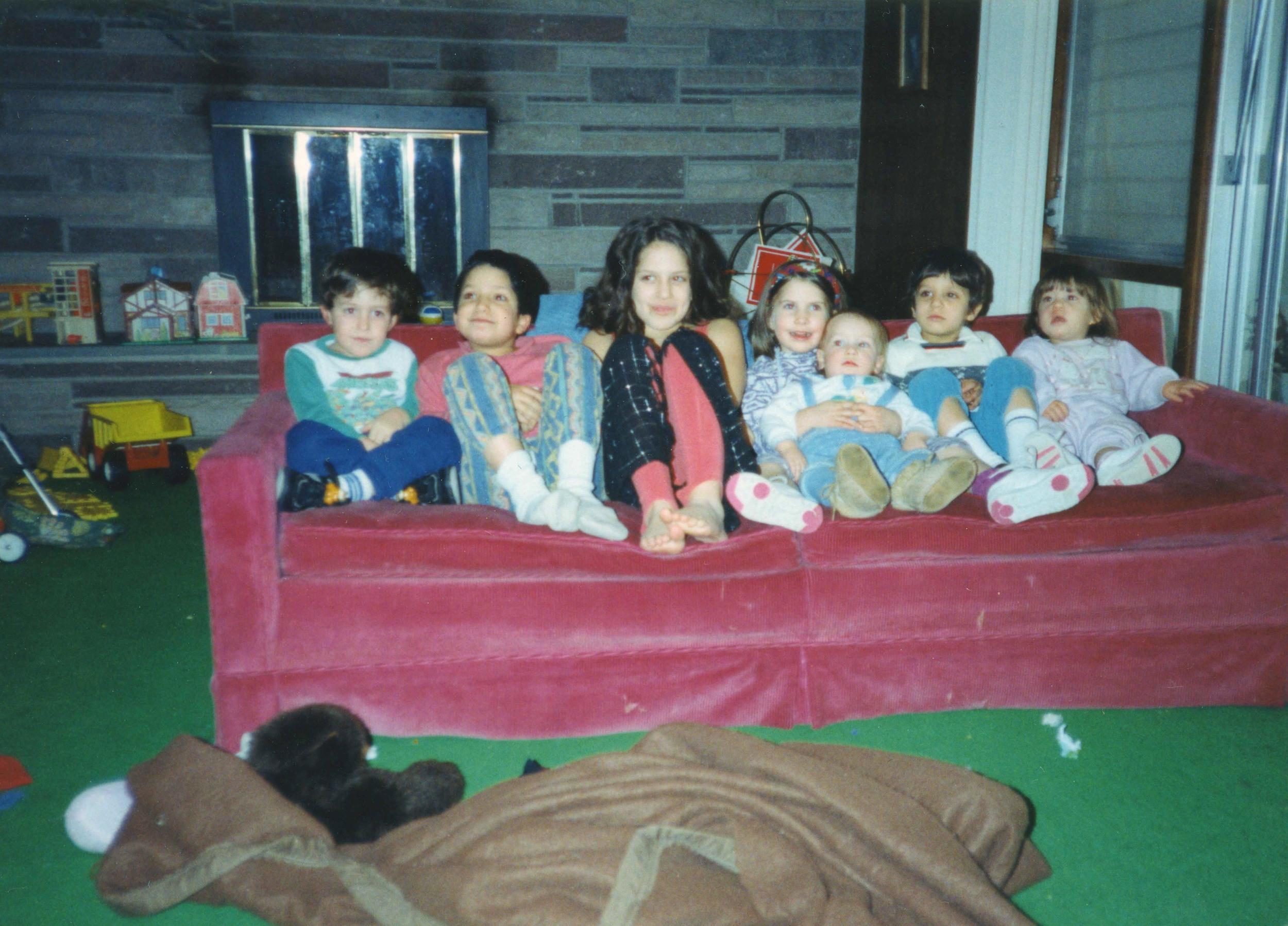 Hana's seven grandchildren in Philadelphia. 1992.