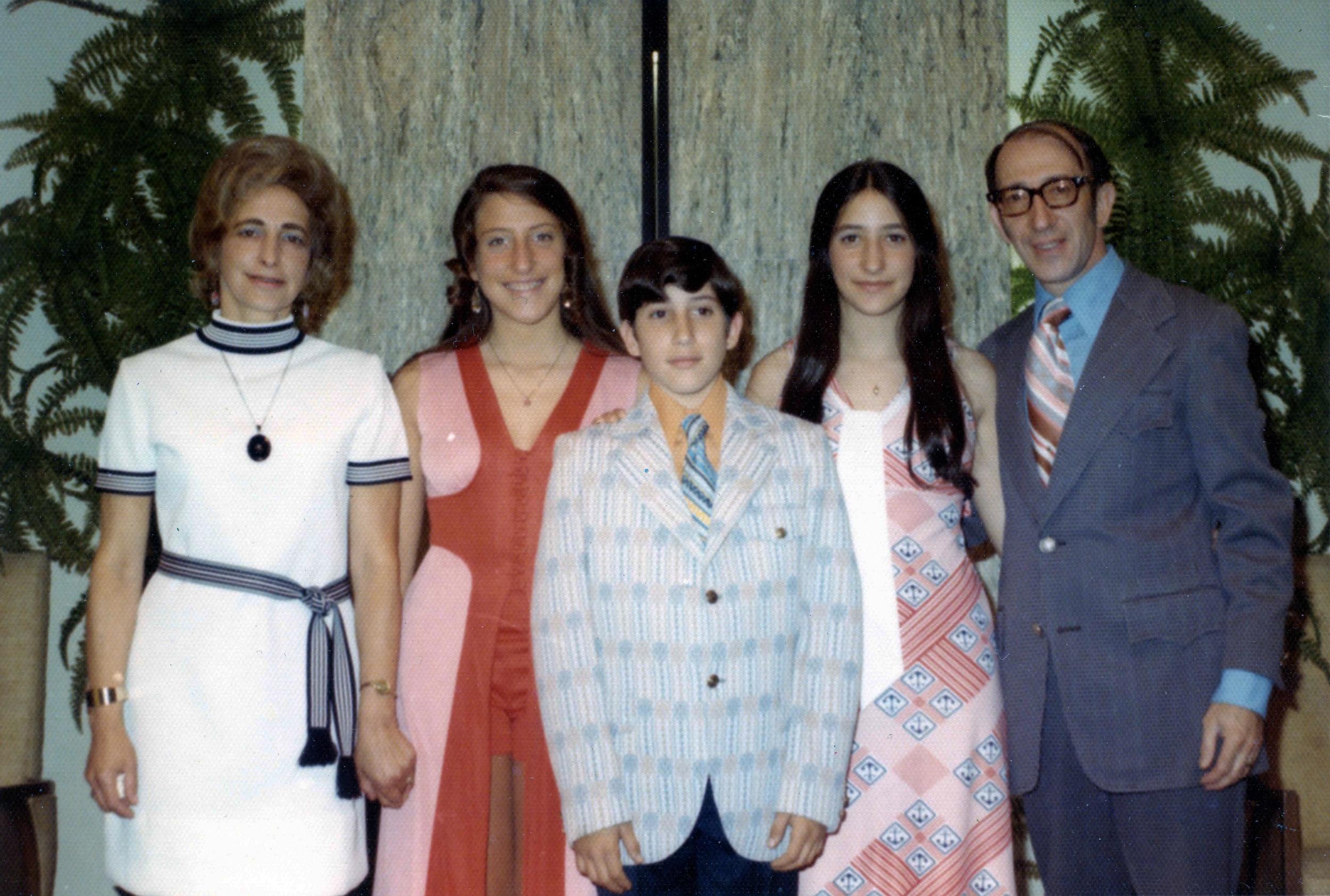 Hana & Ralph with their three children.. Circa 1970s.