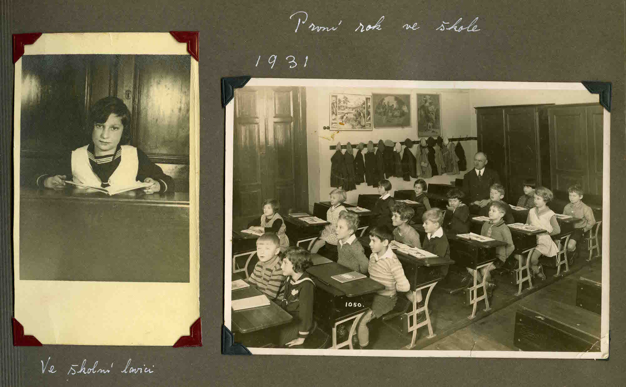 Hana in school in Prague in 1931. Before fleeing Czechoslovakia she had attended both a German-speaking school as well as a French-speaking school making her trilingual by the time she became a teenager.