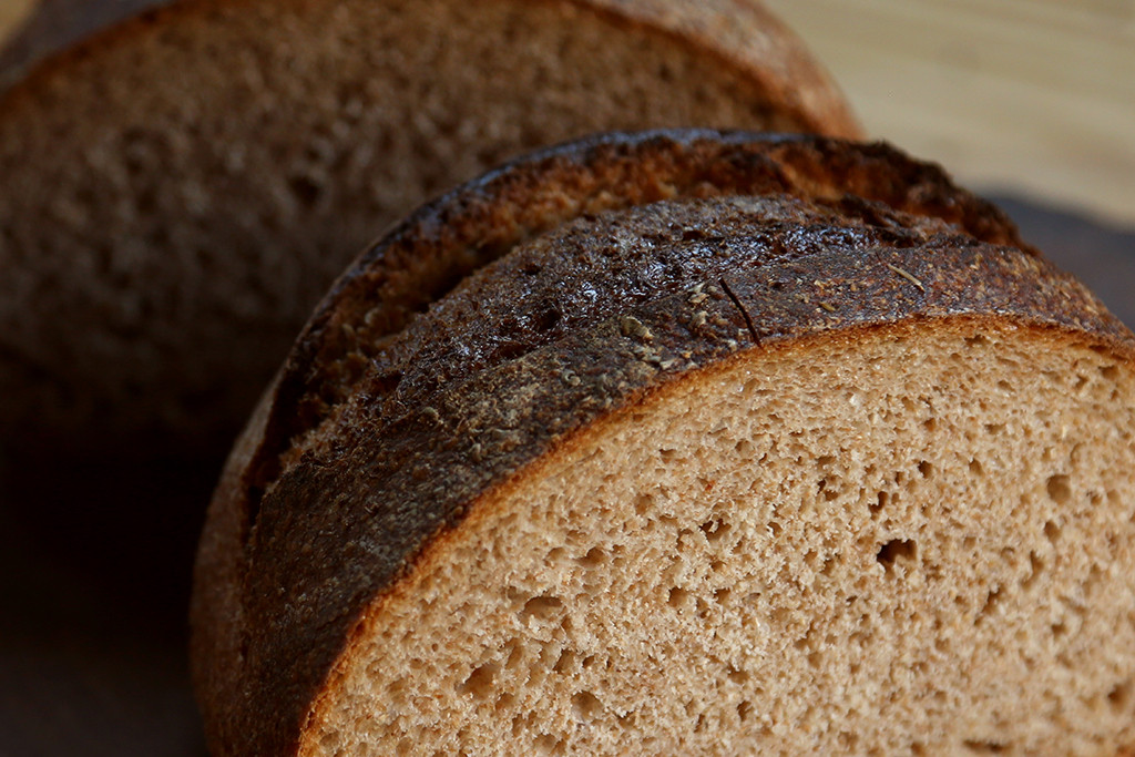 "Organic Paris Bread   A 100 percent organic whole wheat sourdough. Known as ""miche,"" it is the bread staple of France where its sold by the slice, cut from a large loaf. We shape ours into regular round loaves to be enjoyed whole! It is the bread of breads!"