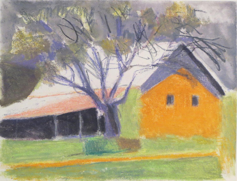 Barn With Tree