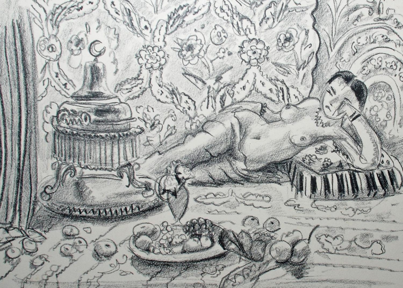 Odalisque, brasero et coupe de fruits, 1929