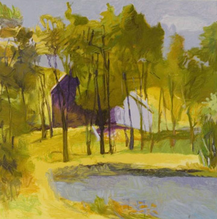 Barn Above Pond, 2002