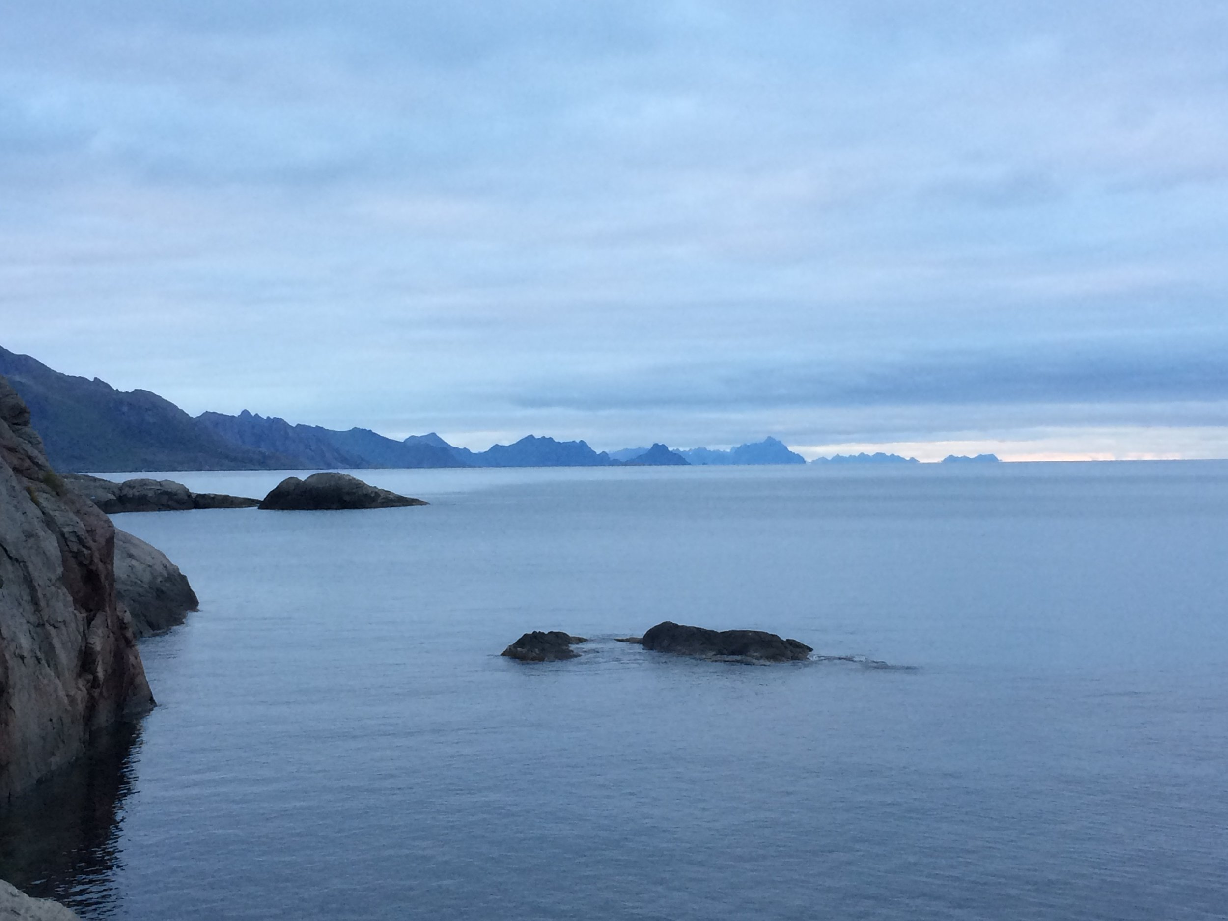 all the missing shades of blue, found in Reine, Norway