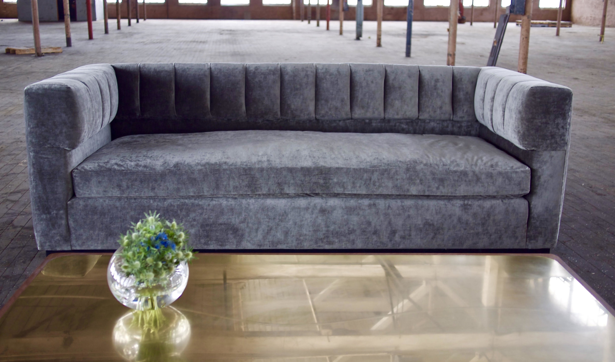 Redux Sofa. 8 way hand tie.  COM