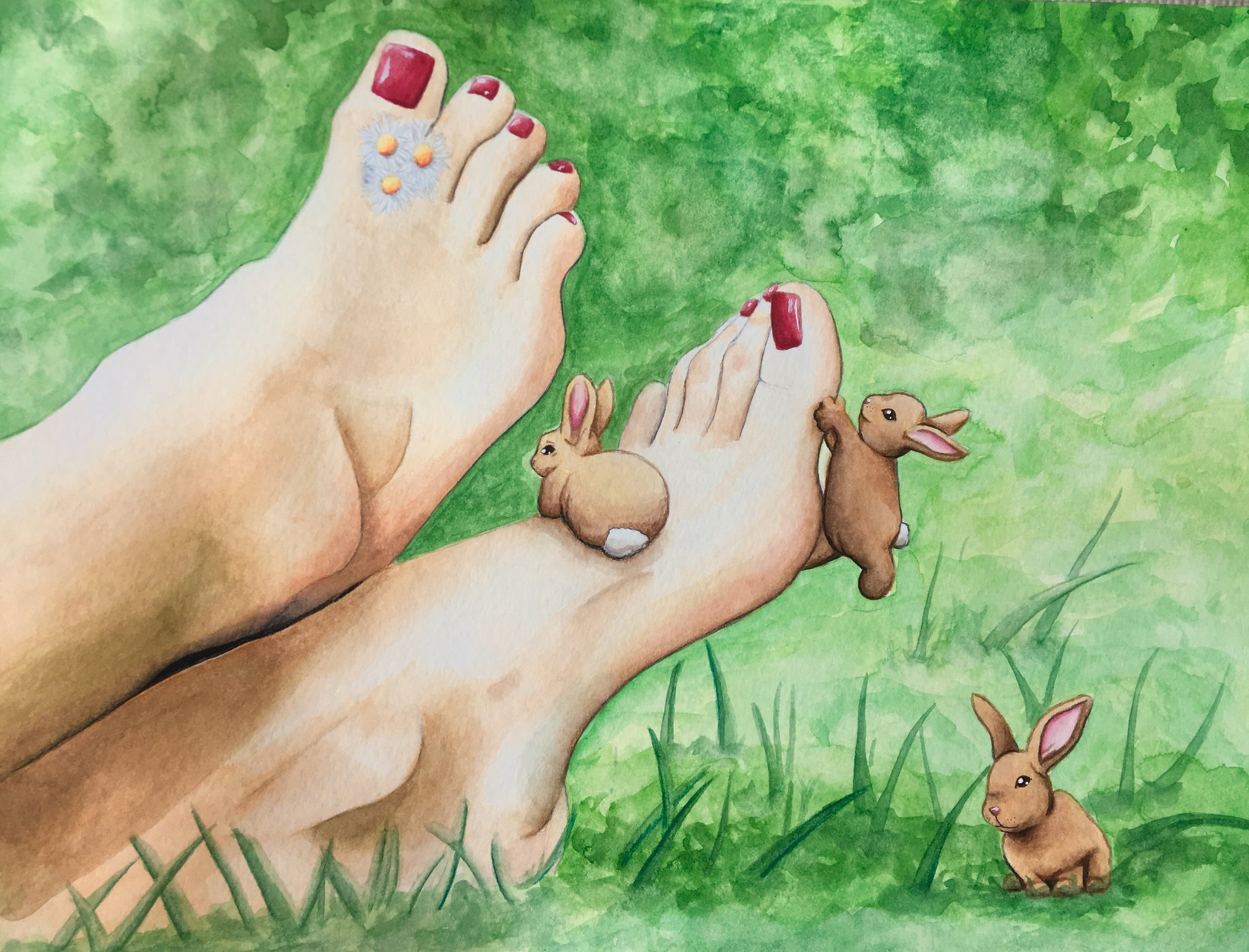 Markopoulos_Bunny Bugs (watercolor and colored pencil).jpg