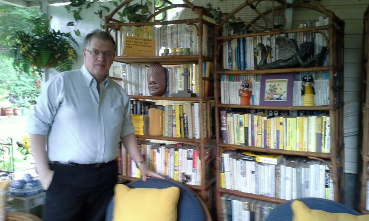 The Friends Collectors Corner at our big book sale grew from the idea of volunteer and bibliophile Sam who has an extensive home library.