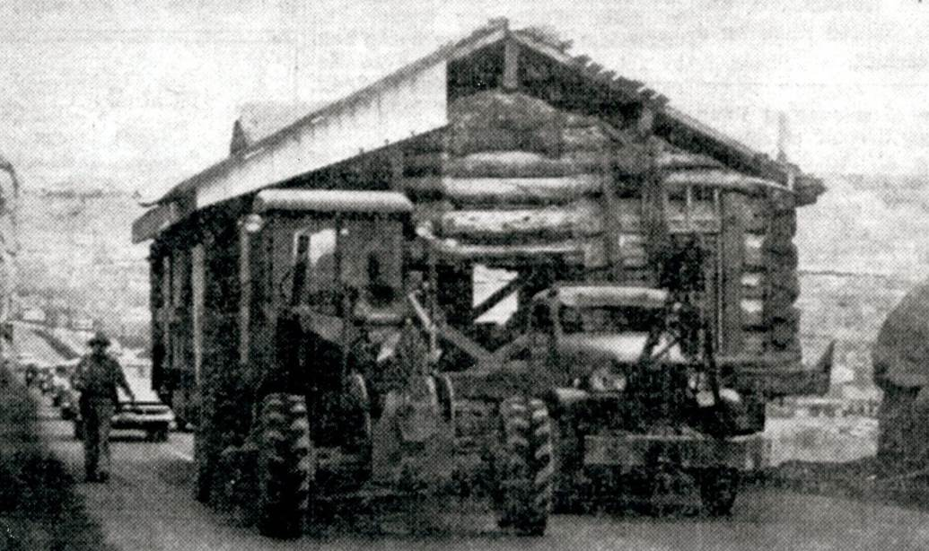Transporting the cabin in 1954