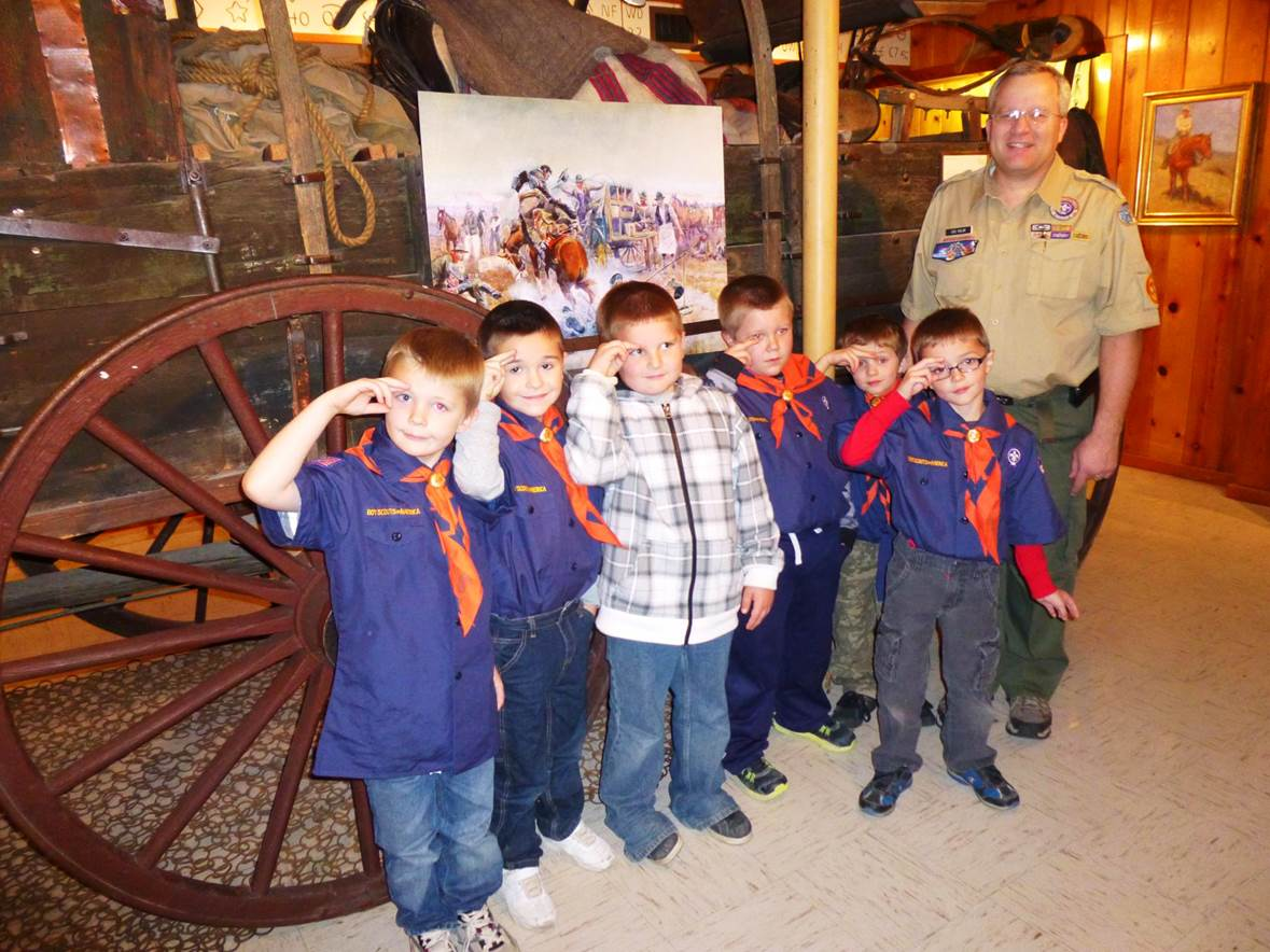 Cub Scouts visiting the YCM