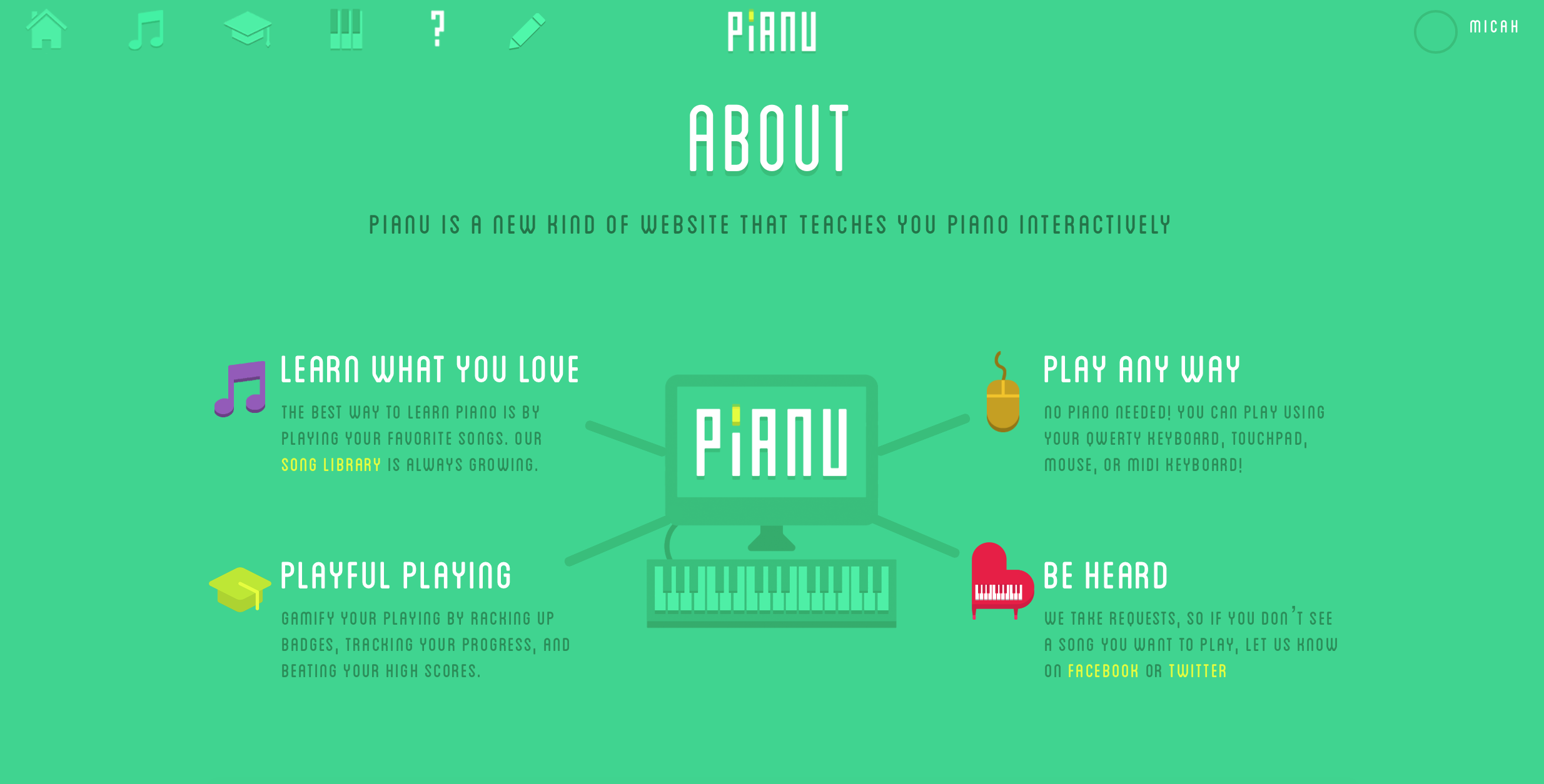 Virtually every aspect of education has been revolutionized by technology in some way. Why should piano be stuck in the past?