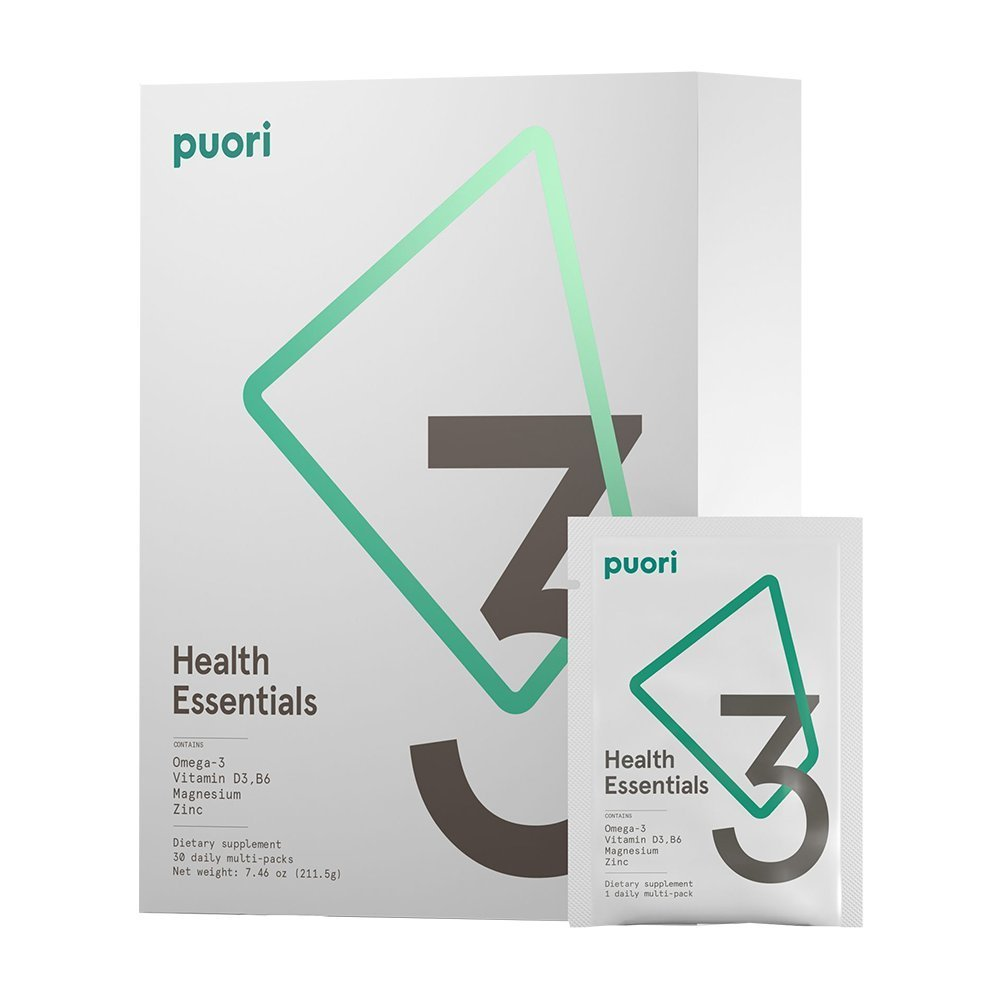 PUORI MONTHLY PACK - Training regularly requires you to support your body to maximise health and performance. Certain nutrients are commonly depleted during intense training. Remembering to take them is also a challenge!The puori essentials provides you with five powerhouse nutrients: omega-3 fatty acids, vitamin D3, magnesium, zinc and vitamin B6 in one convenient pack.The quality is unrivalled and we have had awesome results with clients using these. Can't recommend highly enough.