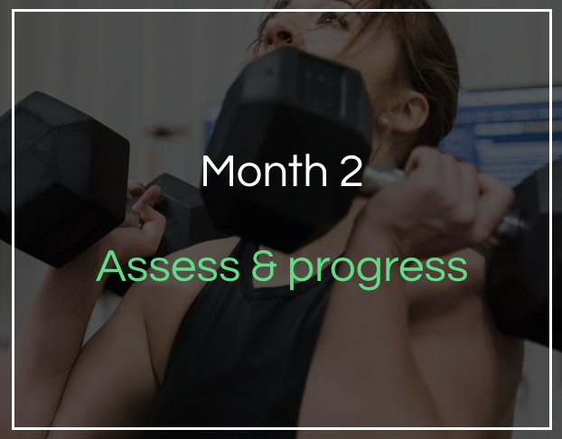 Month 2 - How to assess & progress - Making adjustments to your plan, nutrient timing & nutrition for different training sessions.