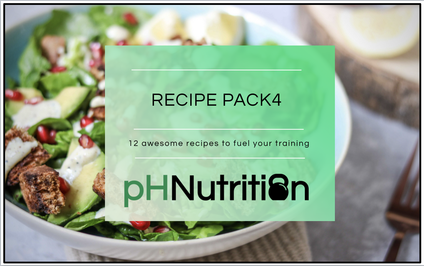 MONTH 4 - 12 awesome recipes to help fuel your training.A few highlights include the sweetcorn fritters, chipotle chicken salad bowl, the smoothie and the courgette blondies!