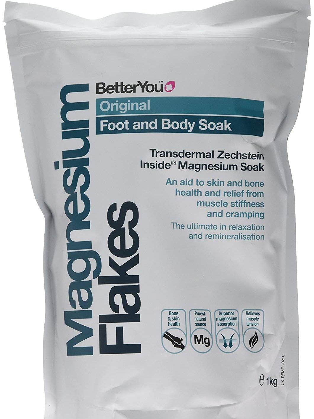 Epsom salt bath flakes -