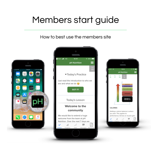 STEP 1 - Enrol on the 5 day members on boarding course. This is the best way to get an understanding of how best to use the site and introduces you to our app.The members site is a nutrition hub that provides you with everything you need to reach your goals. However it can be overwhelming as to where to start!So just give us 5 days to show you what we have on offer!