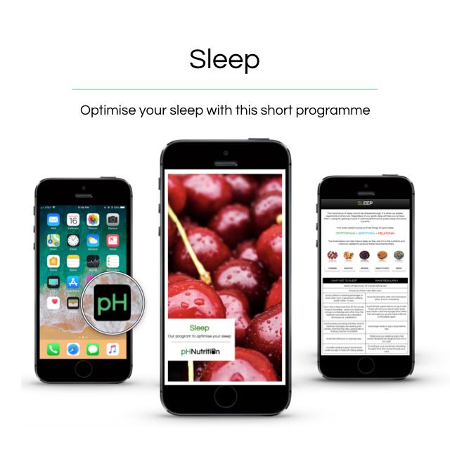 Sleep - Our 3 week program to optimise your sleep———————————————Sleep cyclesFoods for sleepLearn to balance your circadian rhythmHormones and sleepSupplementationTonnes of sleep resources and our guide