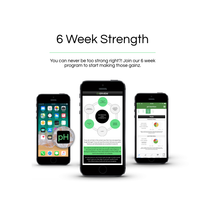 6 week strength - £149
