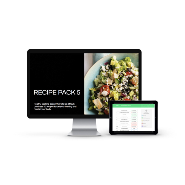 Pack 5 recipes and meal plan - The beef and black bean tacos, some caramel muffins and some awesome breakkie options!