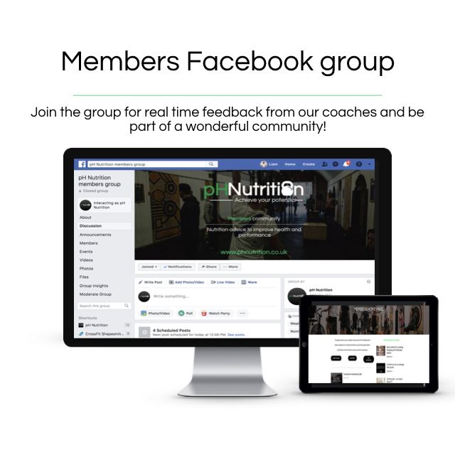 Access to our members group - Along with the email support you receive access to our incredible members facebook group. Here you can ask any question regarding the program or nutrition in general. Support and accountability is a crucial element to making progress!