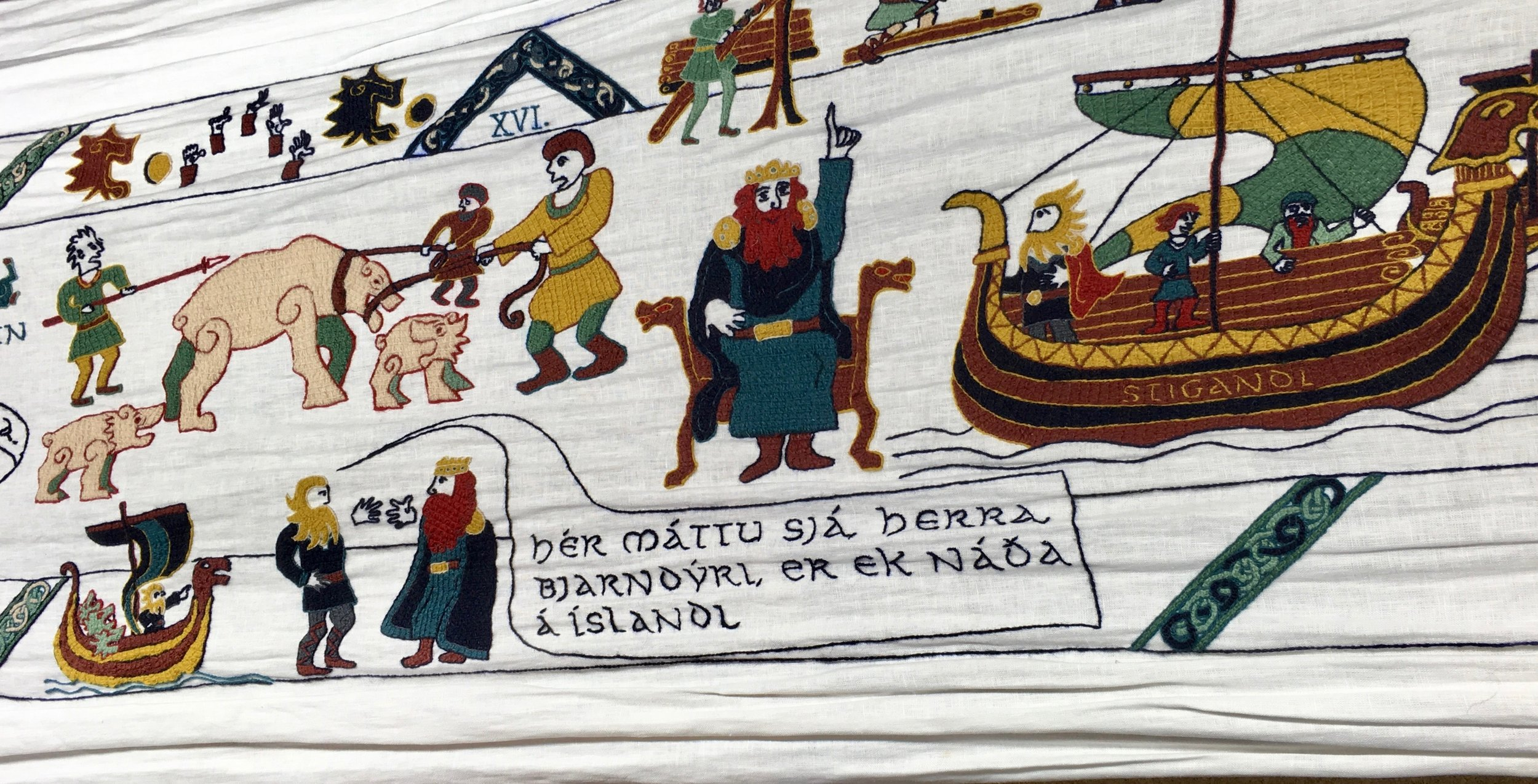 Vatnsdaela Tapestry at The Icelandic Textile Centre