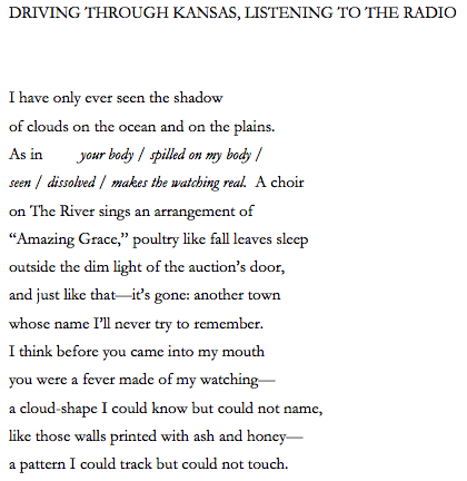 """with lines from Octavio Paz's """"A Draft of Shadows"""""""