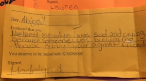 Catch Someone Doing a Kind Act - Have students