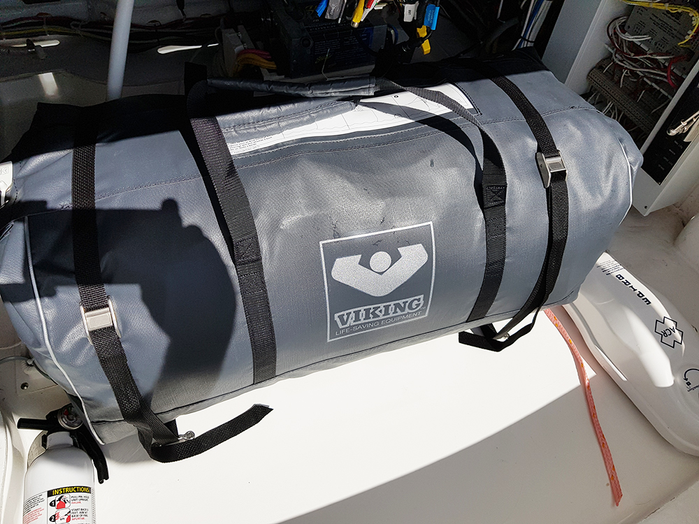 Deck Loops and Straps securing Viking life raft