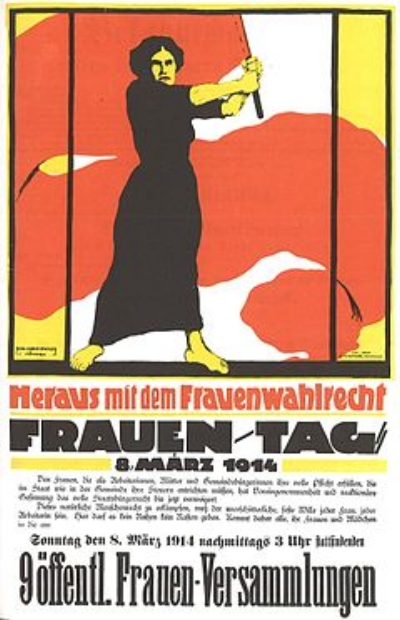 German poster for International Women's Day, March 8, 1914. Image source:  Wikipedia