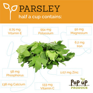 Pop Up Produce Food Facts Parsely
