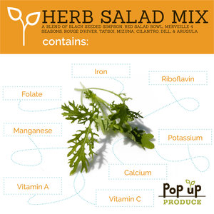 Pop Up Produce Food Facts Herb Salad Mix