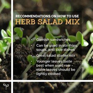 Pop Up Produce Food Facts Herb Salad Mix
