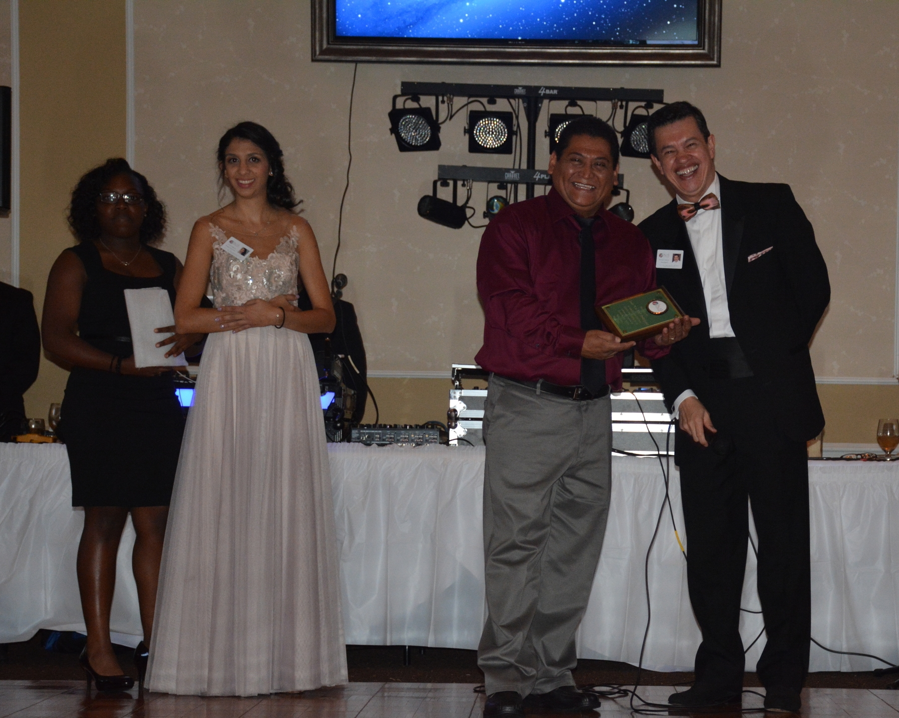 Romell Cooks, Yelitza Maura, and Dr. Salazar recognize our 2015 DJ