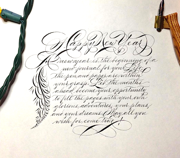 Beginning Spencerian Workshop : Beginning with an overview of the fundamental principles of movement, curvature, contrast and variability, emphasis on the correct use of the hand and arm muscles, proper posture, pen, points, ink and paper position will be explained in detail. Thorough instruction in the lowercase and capital letters, followed by student practice with Cross-Drill exercises, single letters, words and sentences will give each student a comprehensive introduction to this unique form of vintage penmanship. As an added benefit, Michael will have a rare scrapbook of original penmanship specimens from the famous Master Penmen to share with the students throughout the workshop. Michael's handmade oblique penholders, as well as other supplies will be available for purchase. Come join us for this very special opportunity to learn this amazing style of 19th century handwriting! Handouts will be also provided.