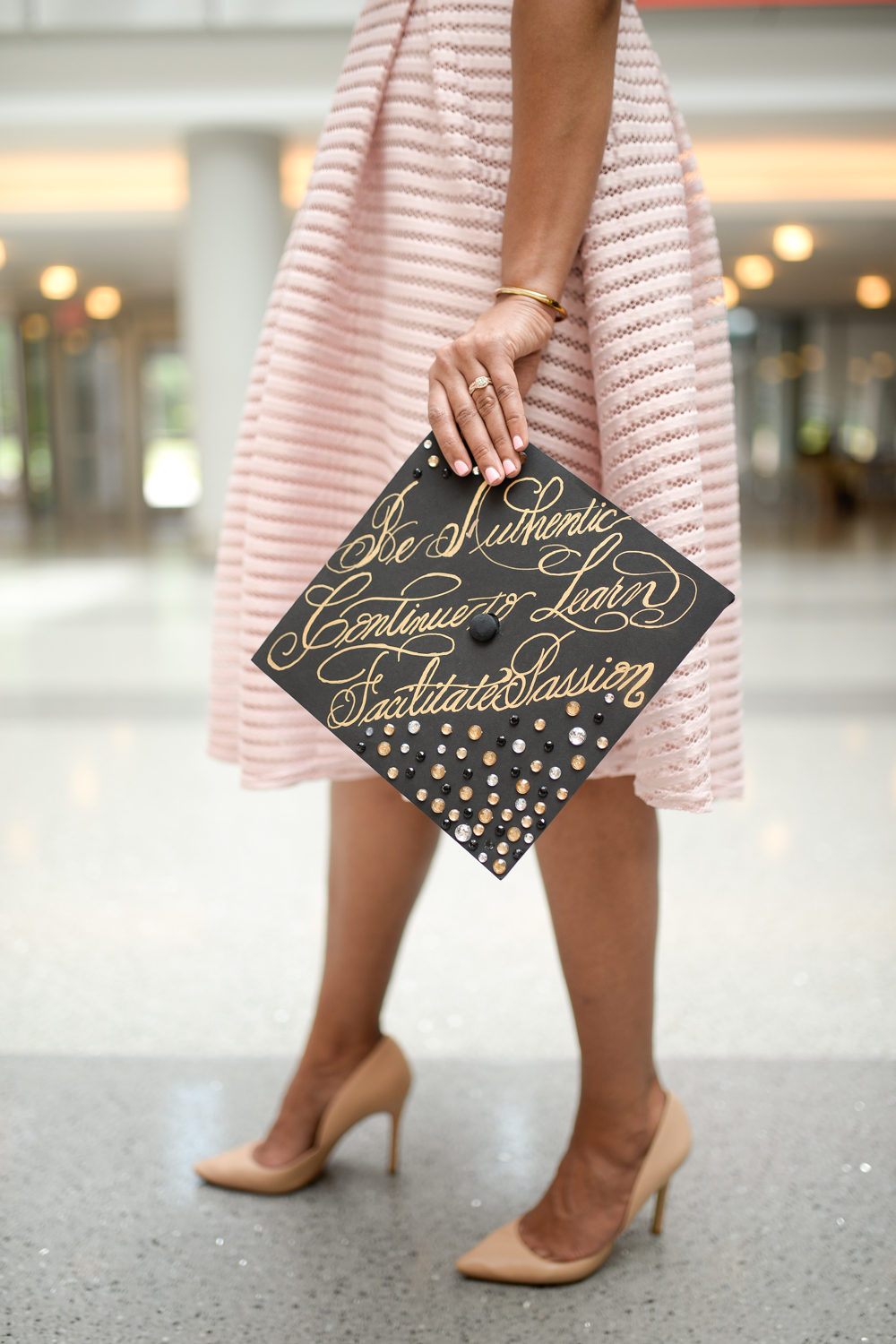 North Carolina State Graduation Cap Calligraphy 6