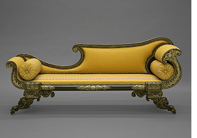 Unknown,  Couch  1820-1830 White pine, ash, tulip, cherry 76 x 52.7 x 152.4 cm (29 15/16 x 20 3/4 x 60 in.) Mabel Brady Garvan Collection Yale University Art Gallery