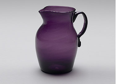 Unknown,  Pitcher  1800-1830 Amethyst flint blown glass Overall: 15.2 cm (6 in.) Object: 13.5 x 8.2 cm (5 5/16 x 3 1/4 in.) Mabel Brady Garvan Collection Yale University Art Gallery