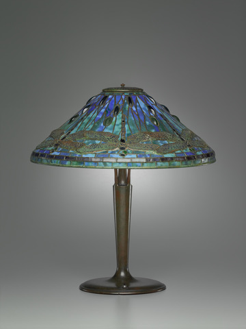 Table lamp, Clara Driscoll,, Tiffany Studios, 1895–1902, Yale University Art Gallery