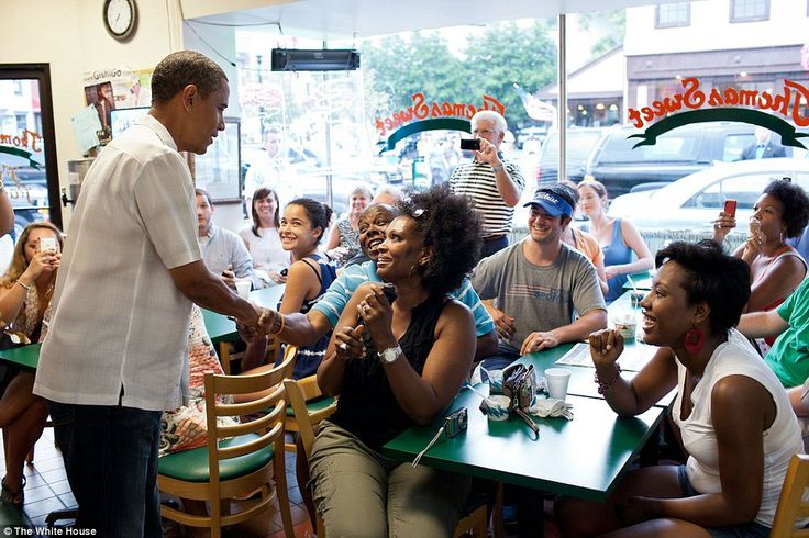 President Obama at Thomas Sweet in 2011   via