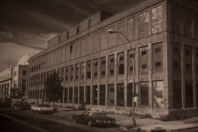 The building in 1983   via