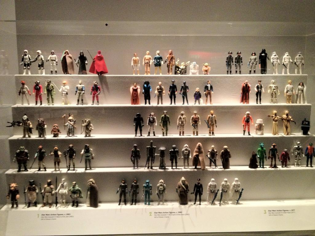 Star Wars figurines on display   via
