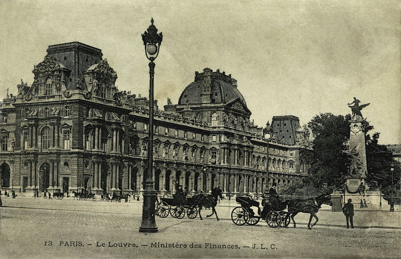 The Louvre in the 19th century  via
