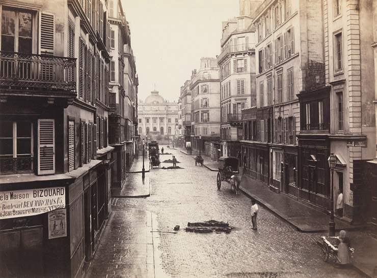 The Rue de Constantine before renovation, by Charles Marville  via